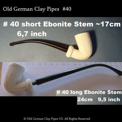 Old German Clay Pipe #40 Vienna Coffeehouse pipe