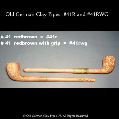 Old German Clay Pipe #44R and #41 RWG
