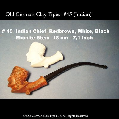 Old German Clay Pipe #45 - Indian