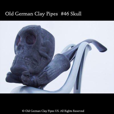 Old German Clay Pipe #46- black
