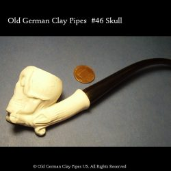 Old German Clay Pipe #46- white